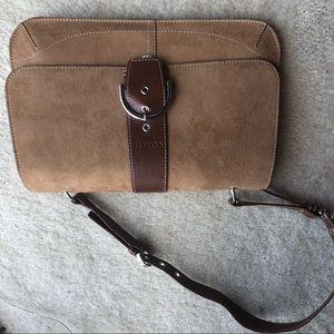 Suede COACH purse